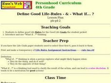 Define Good Life-Rules Lesson Plan