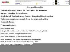 Read Aloud Lesson Plan: Water for One, Water for Everyone Lesson Plan