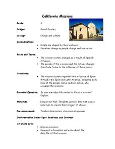 California Missions Lesson Plan