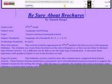 Be Sure About Brochures Lesson Plan