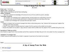 A Sip of Aesop From the Web Lesson Plan