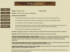 Westward Trails Lesson Plan