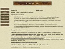 Criminal Law Lesson Plan