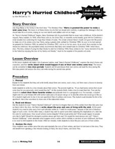 Harry's Hurried Childhood: Advanced Lesson Plan Lesson Plan