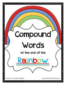 Compound Words at the End of the Rainbow Worksheet