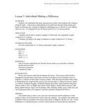 Individuals Making a Difference Lesson Plan