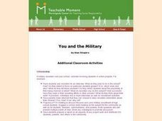 You and the Military Lesson Plan