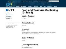 Frog and Toad Are Confusing Lesson Plan