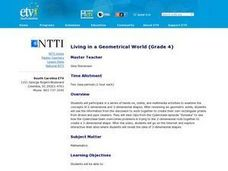 Living in a Geometrical World Lesson Plan