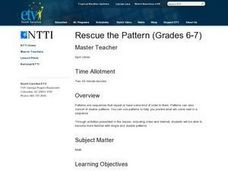 Rescue the Pattern Lesson Plan