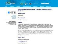 Using Coordinate Geometry by Land, Sea and Outer Space. Lesson Plan