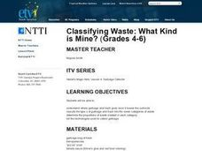 Classifying Waste: What Kind is Mine? Lesson Plan