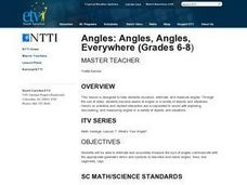 Angles: Angles, Angles, Everywhere Lesson Plan