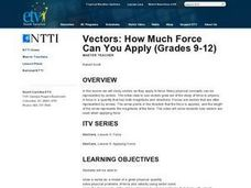 Vectors: How Much Force Can You Apply Lesson Plan