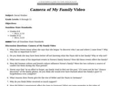 Camera of My Family Video Lesson Plan