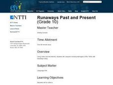 Runaways Past and Present Lesson Plan