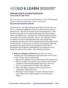 Freedom, Rights, and Responsibilities Lesson Plan