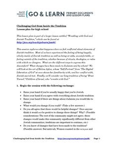 Challenging God from Inside the Tradition Lesson Plan