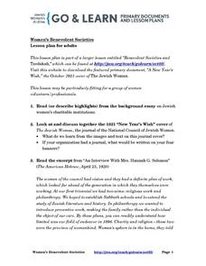 Women's Benevolent Societies Lesson Plan