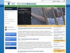 Food Safety Unit Exam 1 Lesson Plan