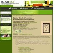 Sowing Seeds Workbook: A Humane Education Primer Lesson Plan
