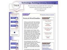Poetry & Word Families Lesson Plan