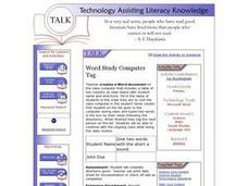 Word Study Computer Tag Lesson Plan