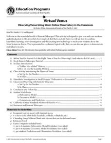 Virtual Venus Lesson Plan