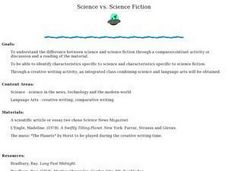Science vs. Science Fiction Lesson Plan