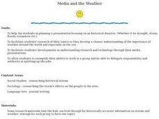 Media and the Weather Lesson Plan