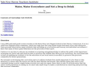 Water Water Everywhere and Not a Drop to Drink! Lesson Plan