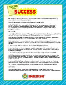 Recipe for Sucess Lesson Plan