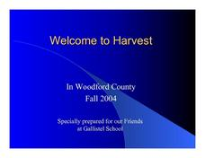 Harvest! Lesson Plan