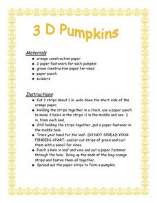 3D Pumpkins Lesson Plan