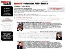 Leadership & Public Service Lesson Plan