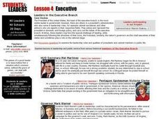 Leaders in the Executive Branch Lesson Plan