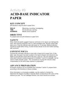 Acid-Base Indicator Paper Lesson Plan