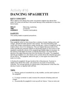 Activity #16 Dancing Spagehetti Lesson Plan