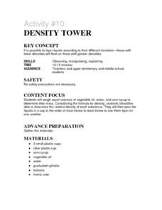 Density Tower Lesson Plan