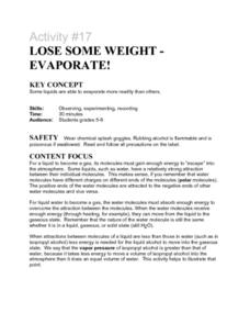 Lose Some Weight- Evaporate! Lesson Plan