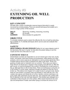 Activity #9 Extending Oil Well Production Lesson Plan