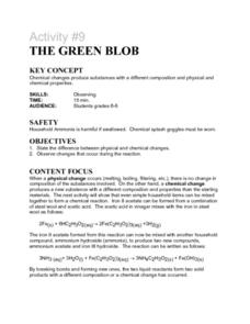 Activity #9 Tye Green Blob Lesson Plan