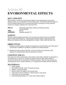 Activity #5 Environmental Effects Lesson Plan