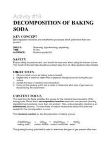 Activity #18 Decompostion of Baking Soda Lesson Plan