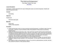 The Artist as Entrepreneur Lesson Plan