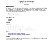 The Artist as Entrepreneur: Do I Get a Job or Make a Job? Lesson Plan