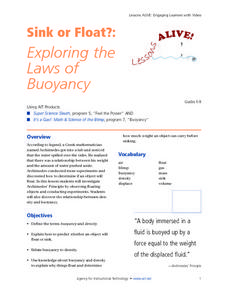Sink or Float:  Exploring the Laws of Buoyancy Lesson Plan