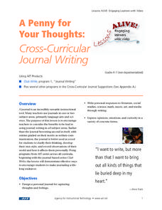 A Penny For Your Thoughts: Cross-Curricular Journal Writing Lesson Plan