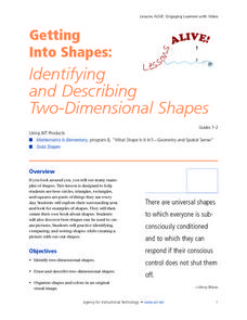 Getting Into Shapes: Identifying and Describing Two-Dimensional Shapes Lesson Plan
