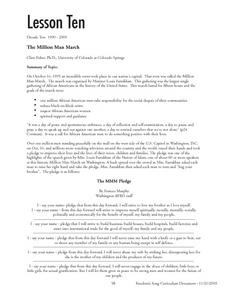 The Million Man March Lesson Plan